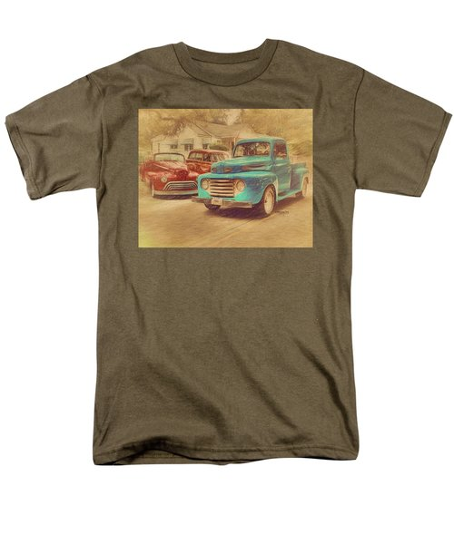 1950 Ford Truck Classic Cars - Homecoming Men's T-Shirt  (Regular Fit) by Rebecca Korpita