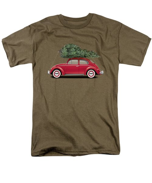 1962 Volkswagen Deluxe Sedan - Ruby Red W/ Christmas Tree Men's T-Shirt  (Regular Fit)