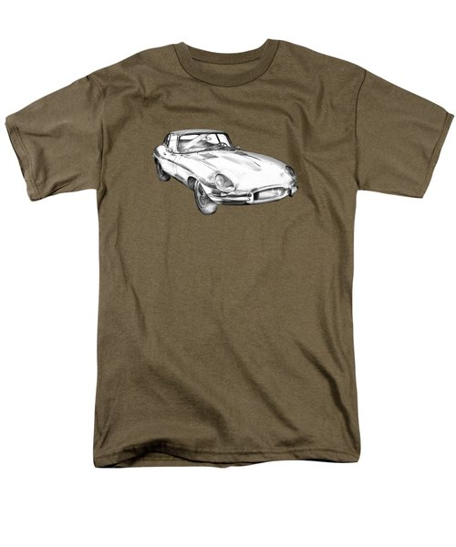 1964 Jaguar Xke Antique Sportscar Illustration Men's T-Shirt  (Regular Fit) by Keith Webber Jr