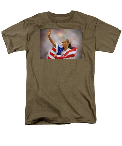 Alex Morgan Men's T-Shirt  (Regular Fit) by Semih Yurdabak