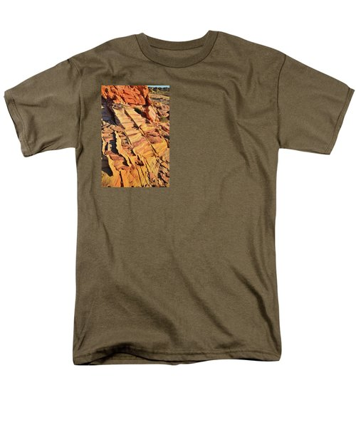 Men's T-Shirt  (Regular Fit) featuring the photograph Bands Of Color In Valley Of Fire by Ray Mathis