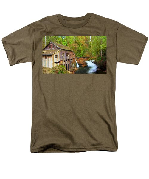 Cedar Creek Grist Mill Men's T-Shirt  (Regular Fit) by Steve Warnstaff