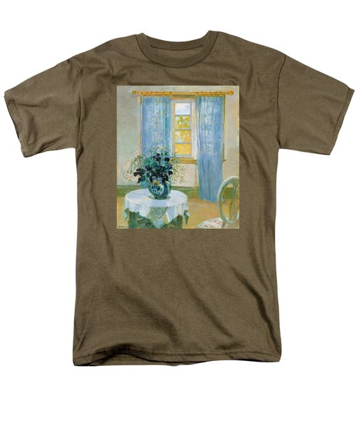 Interior With Clematis Men's T-Shirt  (Regular Fit) by Anna Ancher