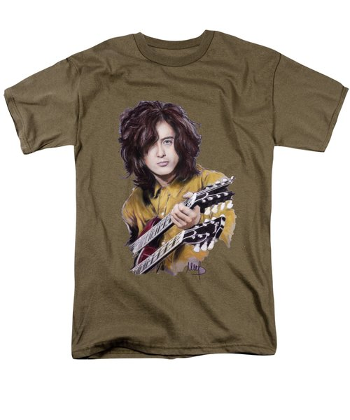 Jimmy Page Men's T-Shirt  (Regular Fit) by Melanie D
