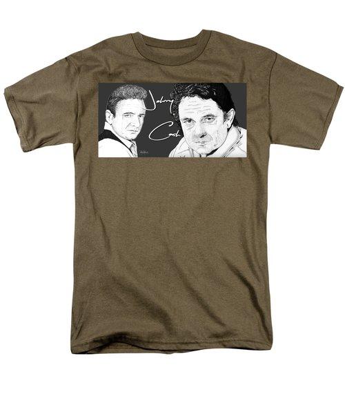 Johnny Cash Men's T-Shirt  (Regular Fit) by Bill Richards