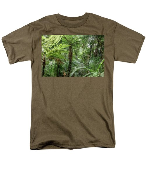 Men's T-Shirt  (Regular Fit) featuring the photograph Jungle Ferns by Les Cunliffe