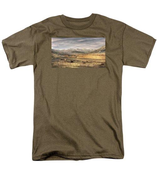 Lamar Valley Men's T-Shirt  (Regular Fit) by CR  Courson