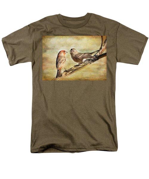 2 Little Love Birds Men's T-Shirt  (Regular Fit)