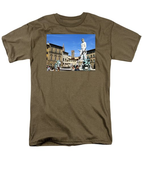 Neptune Fountain Florence Men's T-Shirt  (Regular Fit) by Lisa Boyd