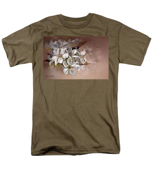 Men's T-Shirt  (Regular Fit) featuring the painting Oriental Pear Blossom by Bonnie Willis
