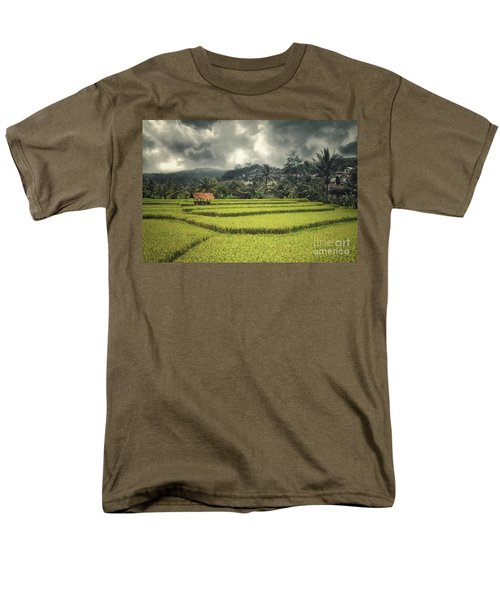 Men's T-Shirt  (Regular Fit) featuring the photograph Paddy Field by Charuhas Images
