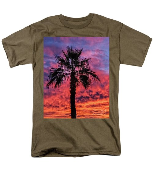 Palm Tree Silhouette Men's T-Shirt  (Regular Fit) by Robert Bales