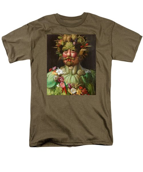 Rudolf II Of Habsburg As Vertumnus Men's T-Shirt  (Regular Fit) by Giuseppe Arcimboldo