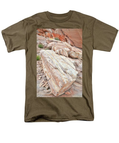 Men's T-Shirt  (Regular Fit) featuring the photograph Sandstone Slope In Valley Of Fire by Ray Mathis