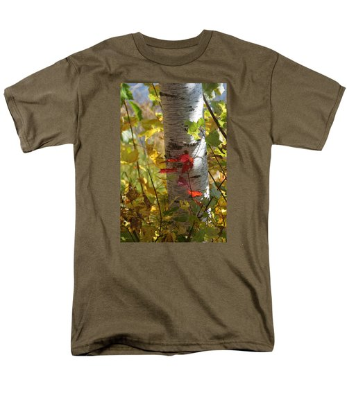 Men's T-Shirt  (Regular Fit) featuring the photograph Seeing Red by Judy  Johnson