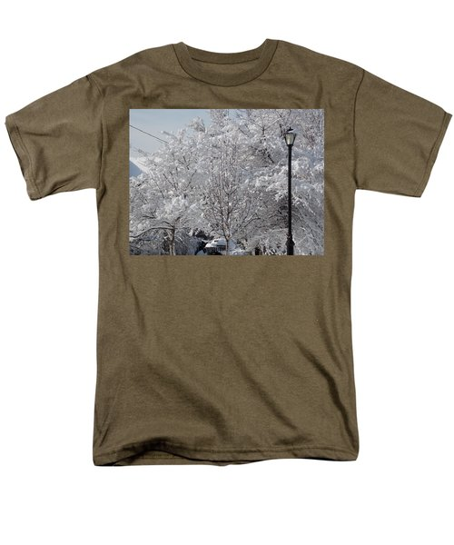 Snow Covered Trees Men's T-Shirt  (Regular Fit) by Catherine Gagne