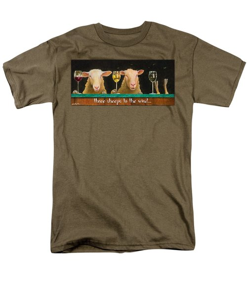 Three Sheeps To The Wind... Men's T-Shirt  (Regular Fit) by Will Bullas