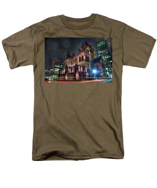 Men's T-Shirt  (Regular Fit) featuring the photograph Trinity Church - Copley Square Boston by Joann Vitali