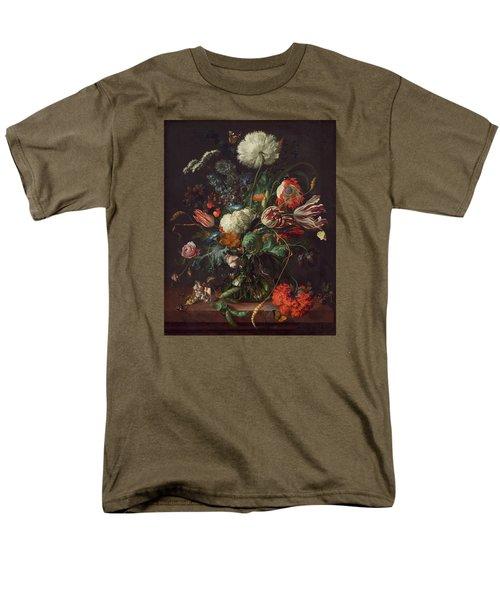 Vase Of Flowers Men's T-Shirt  (Regular Fit) by Jan Davidsz de Heem