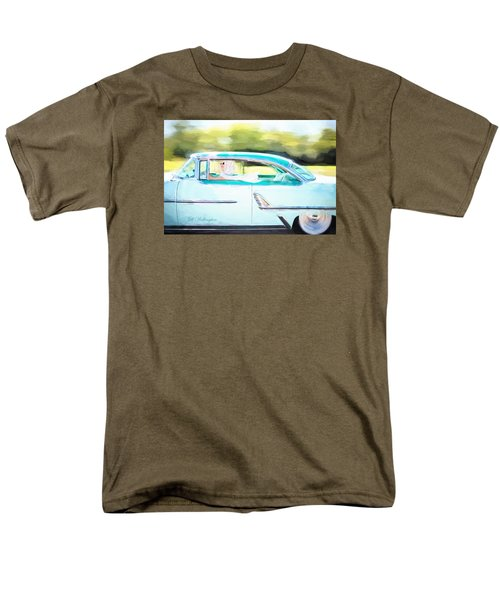 Vintage Val In The Turquoise Vintage Car Men's T-Shirt  (Regular Fit) by Jill Wellington