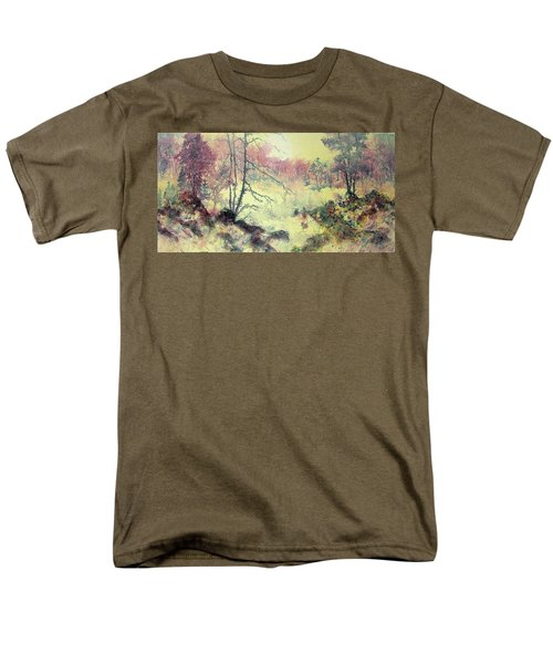Men's T-Shirt  (Regular Fit) featuring the painting Woods And Wetlands by Carolyn Rosenberger
