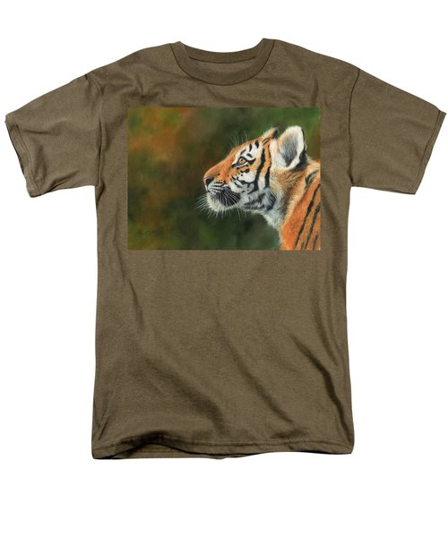 Men's T-Shirt  (Regular Fit) featuring the painting Young Amur Tiger  by David Stribbling