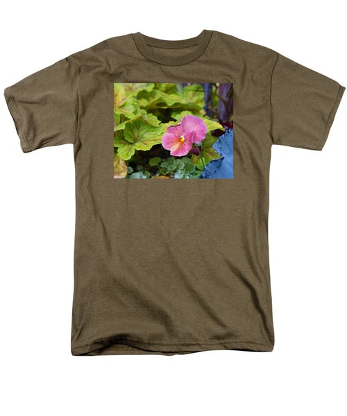 2015 After The Frost At The Garden Pansies 3 Men's T-Shirt  (Regular Fit) by Janis Nussbaum Senungetuk