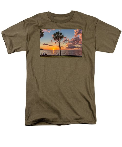 Men's T-Shirt  (Regular Fit) featuring the photograph Sunset Over Lake Eustis by Christopher Holmes