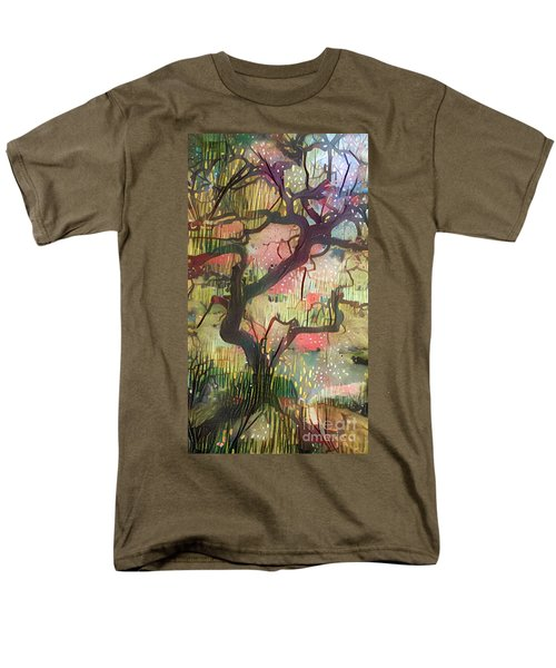 Abstract Japanese Maple Tree Men's T-Shirt  (Regular Fit)