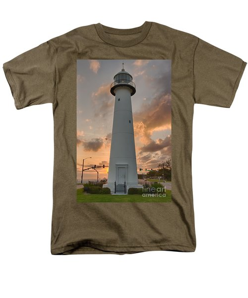 Men's T-Shirt  (Regular Fit) featuring the photograph Biloxi Lighthouse by Brian Wright