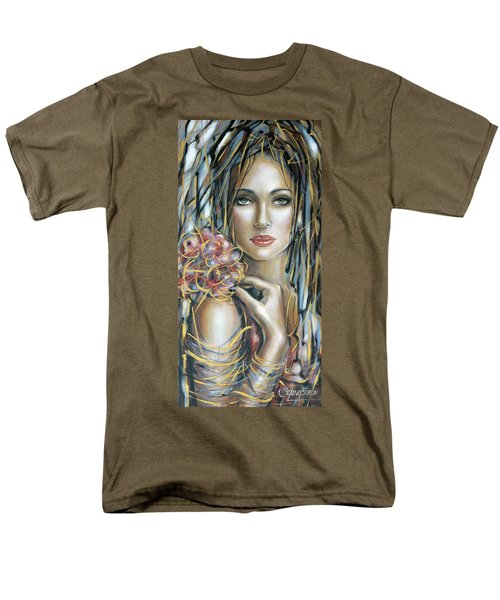 Men's T-Shirt  (Regular Fit) featuring the painting Drama Queen 301109 by Selena Boron