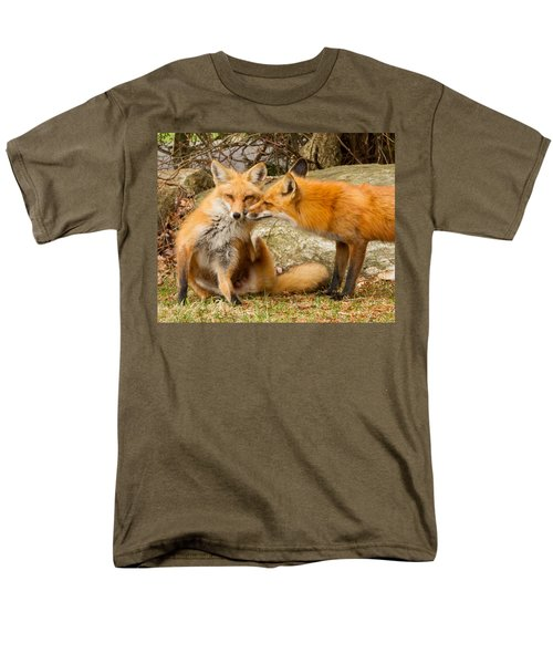 Foxes In Love Men's T-Shirt  (Regular Fit) by Brian Caldwell