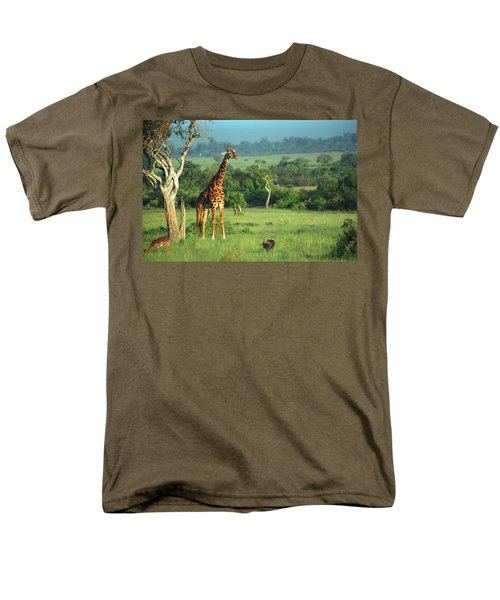 Giraffe Men's T-Shirt  (Regular Fit) by Sebastian Musial