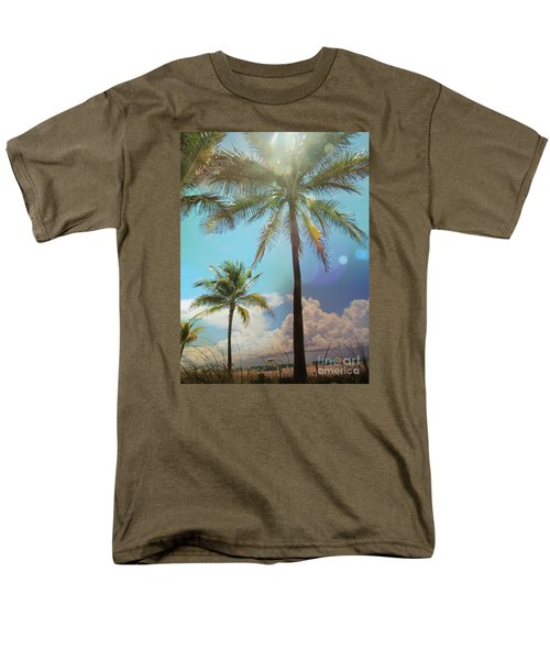 Miami Palm Trees,  Men's T-Shirt  (Regular Fit) by France Laliberte