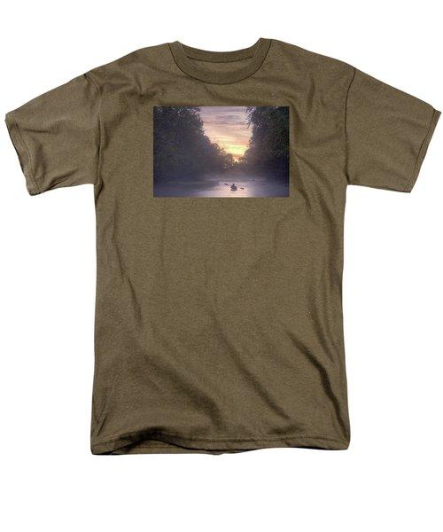 Paddling In Mist Men's T-Shirt  (Regular Fit) by Robert Charity