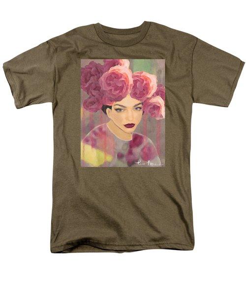 Men's T-Shirt  (Regular Fit) featuring the digital art Rose by Lisa Noneman