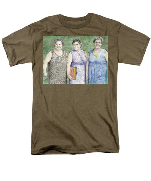 Men's T-Shirt  (Regular Fit) featuring the drawing 3 Sisters by Albert Puskaric