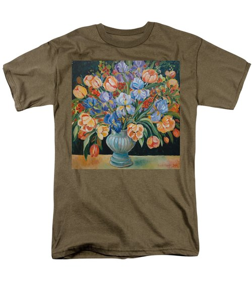 Tulips Men's T-Shirt  (Regular Fit) by Alexandra Maria Ethlyn Cheshire