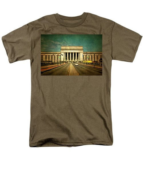 Men's T-Shirt  (Regular Fit) featuring the mixed media 30th Street Station Traffic by Trish Tritz