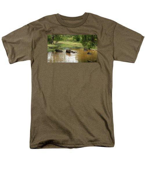 Men's T-Shirt  (Regular Fit) featuring the photograph Buffalos by Christian Zesewitz