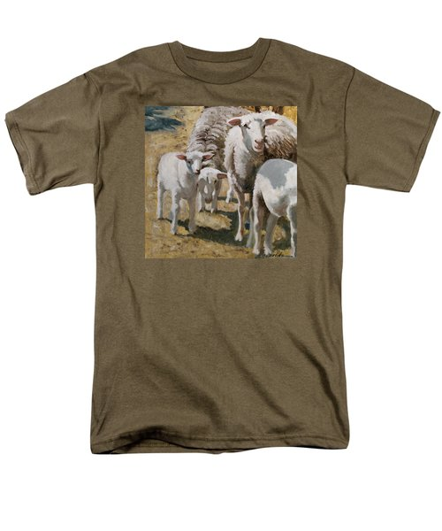 Men's T-Shirt  (Regular Fit) featuring the painting The Whole Family Is Here by John Reynolds