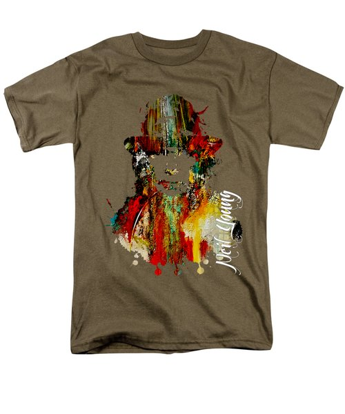 Neil Young Collection Men's T-Shirt  (Regular Fit) by Marvin Blaine