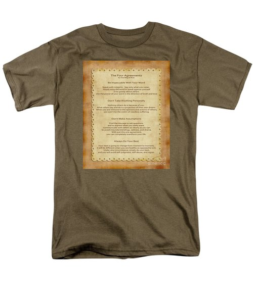 41- The Four Agreements Men's T-Shirt  (Regular Fit) by Joseph Keane