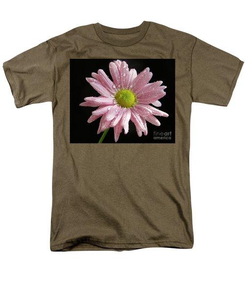 Pink Flower Men's T-Shirt  (Regular Fit) by Elvira Ladocki