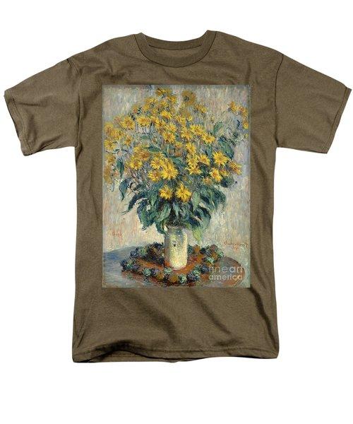 Jerusalem Artichoke Flowers Men's T-Shirt  (Regular Fit) by Claude Monet