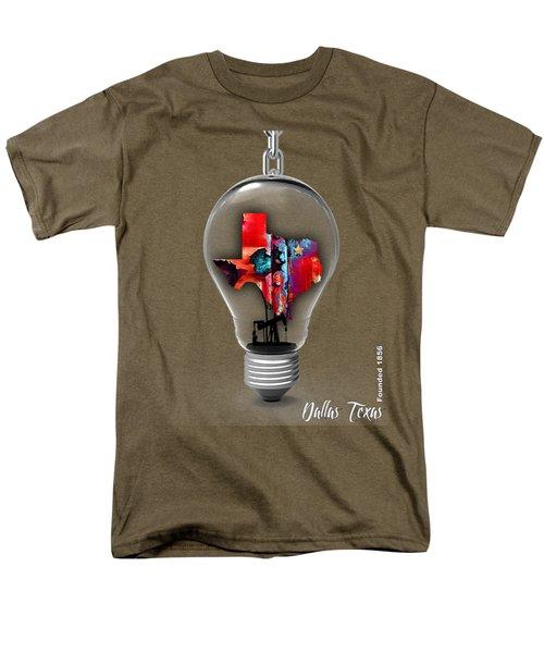 Dallas Texas Map Collection Men's T-Shirt  (Regular Fit)