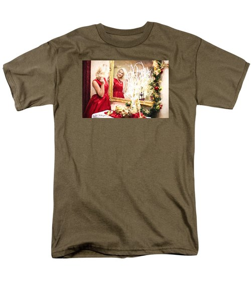 Vintage Val Home For The Holidays Men's T-Shirt  (Regular Fit) by Jill Wellington
