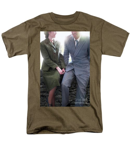 1940s Couple Men's T-Shirt  (Regular Fit) by Lee Avison