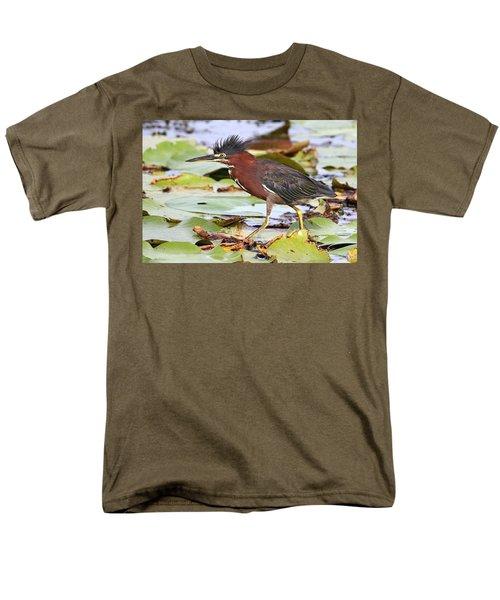 Green Heron Men's T-Shirt  (Regular Fit)