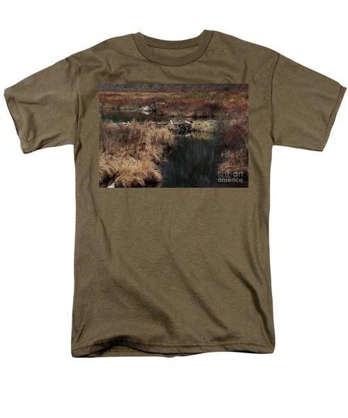 A Beaver's Work Men's T-Shirt  (Regular Fit) by Skip Willits
